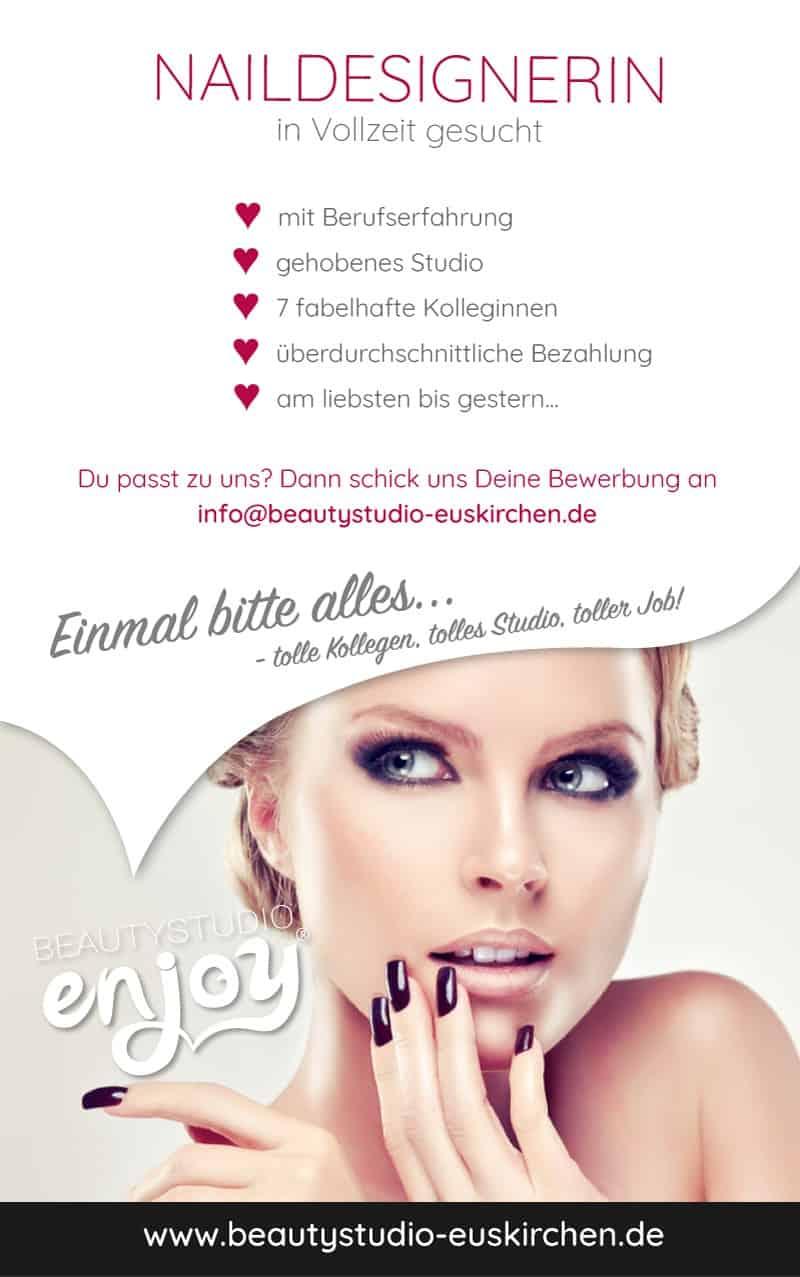 Beautystudio-Enjoy_Stellenanzeige_Naildesignerin Stellenangebot Naildesign